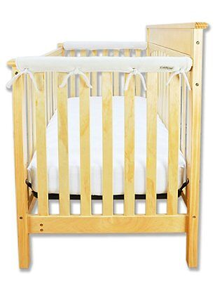 Trend Lab Fleece CribWrap Rail Covers for Crib Sides (Set of 2), Natural, Narrow