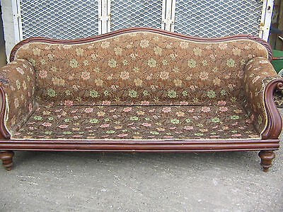 Edwardian / Late Victorian Sofa For Restoration Real Nice Piece Old Antique.