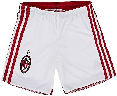 (17 years, White - Running White/Victory Red S04) - Adidas Boy's AC Milan Home