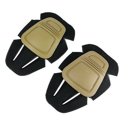 (Tan) - Protective Knee Pads, Airsoft Paintball Knee Protector Hunting