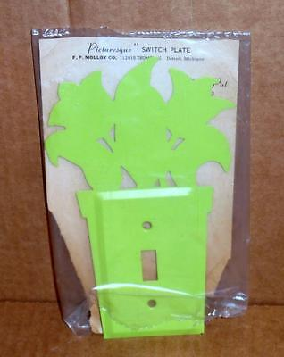 Vtg Light Switch Wall Plate Decorative Metal Wall Light Switch Cover Plate #6