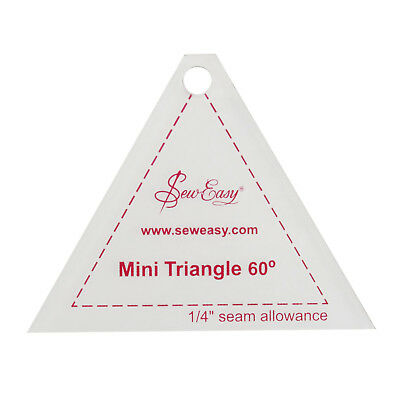 NEW | Sew Easy NL4153.4 | Mini Clear Triangle 60° Template 3.17x2.4"