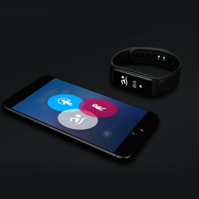 O.96Inches Bluetooth Heart Rate Blood Pressure Meter Step Smart Bracelet