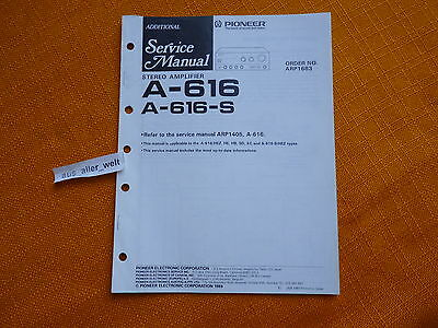 additional SERVICE MANUAL PIONEER A 616 A 616 S english Schaltplan