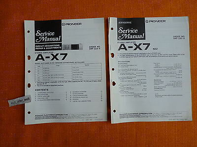 service manual pioneer a 7 english schaltplan reparatur