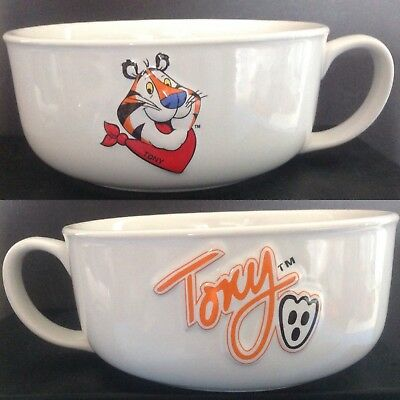 1999 Kellogg co. TONY THE TIGER Cereal Bowl w/ Handle Frosted Flakes