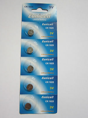 Eunicell CR1025 CR 1025 - 3V Lithium Button Cell Battery Batteries x 5