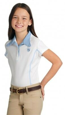 (X-Large, White/Periwinkle) - Romfh Childs Competitor S/S Show Shirt