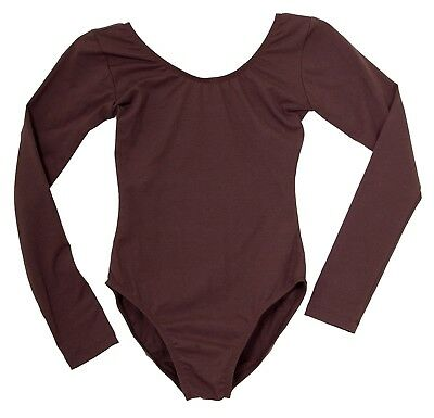 """(Small, Brown) - Adult's Long Sleeve Leotard by """"American Theatre Dancewear"""""""