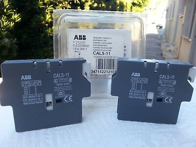 ABB CAL5-11 Side Mount Auxiliary Contact Block ( 2 Pieces in box )