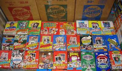 New Old Vintage 100 Baseball MLB Cards in Unopened Packs Wax Box Case Huge Lot