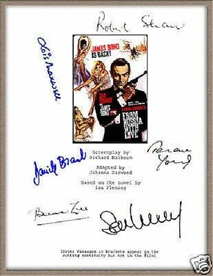 JAMES BOND 'FROM RUSSIA WITH LOVE' ORIGINAL SIGNED MOVIE SCRIPT NOT COPY prop