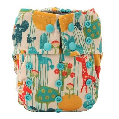 1 Newborn AIO Cloth Diaper Nappy Charcoal Insert Night Washable Resuable Animal