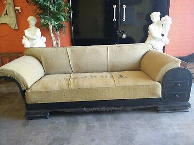 REDUCED PRICE Designer Vintage Retro Antique Sofa Settee with built in drawers