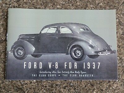 1937 Ford V8 Brochure  '' Rhd Australian Version''