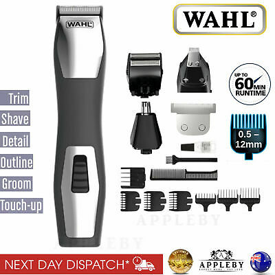 Wahl Cordless Beard Trimmer Hair Clipper Shaver Nose Grooming Set Rechargeable
