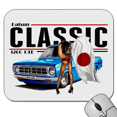 Datsun 1200 Ute  Bad Girl     Mouse Pad   Mouse Mat