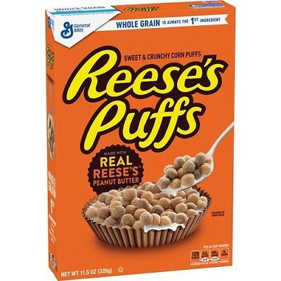 Reese's Puffs Sweet and Crunchy Corn Puffs Cereal 326G from USA (3 PACK)