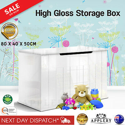 Baby Kids Storage Bedroom Playroom Toy Box Drawer Chest Bench Seat High Gloss