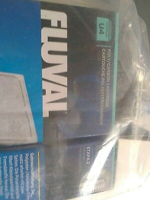 Fluval U4 Poly Clearmax Filter Cartridge Fish Tank Aquarium Filtration