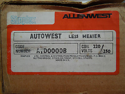 ALLENWEST AUTOWEST Simplex LESS HEATER 3 phase started on /off 240v coil