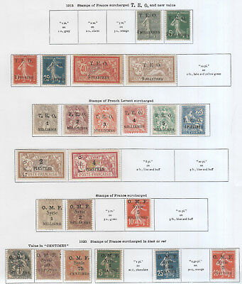 French Colonies, Syria From 1919 On 3 Pages Mh