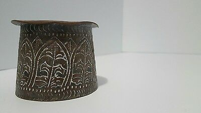 Early 20th Century Chinese China Worked Copper Matchstick holder tourist market