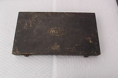 Used Moore & Wright Micrometer Empty Wooden Box