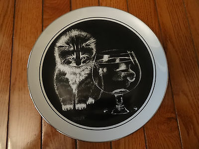 "Kitten's World Collector Plate by Droguett ""Just Curious"" Mint Condition"