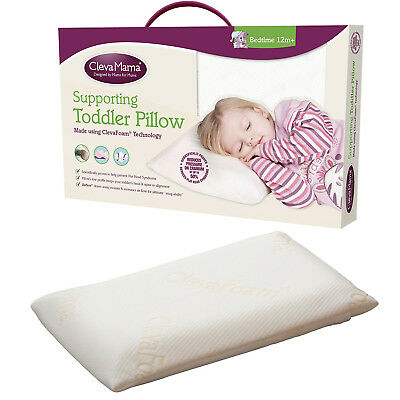 Clevamama ClevaFoam Toddler Baby Pillow Comfort with Perfect Support Keep Head