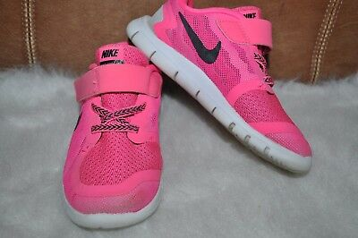 a90ab6957509 NIKE FREE 5.0 Toddler Girls Pink Black White Shoes Sneakers ~ SIZE ...
