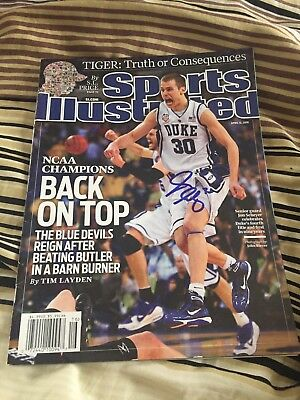 Sports Illustrated Jon Scheyer Signed Magazine RARE