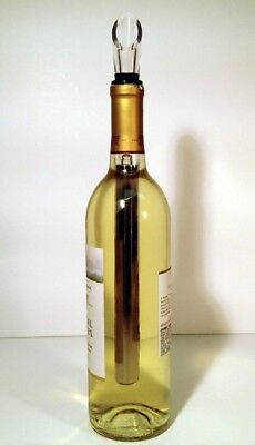 Wine Chiller Stick~ Stainless Steel~Chill, Seal and Pour Your Wine~Perfectly