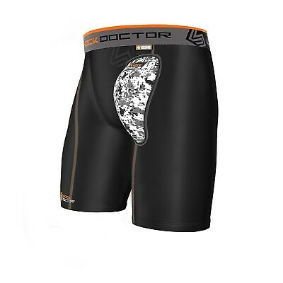 (YOUTH/X-LARGE, Black) - Shock Doctor Adult 236 Compression Short Soft Cup,