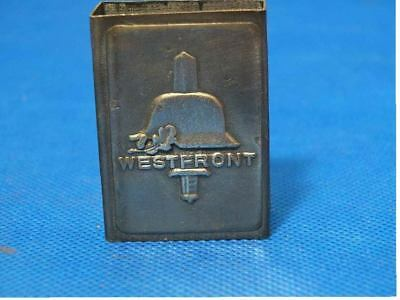 GERMAN MATCHBOX COVER-----westfront
