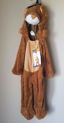 Lion Furry Halloween Costume Child Kids Toddler Full Jumpsuit Ages 18-24 Months