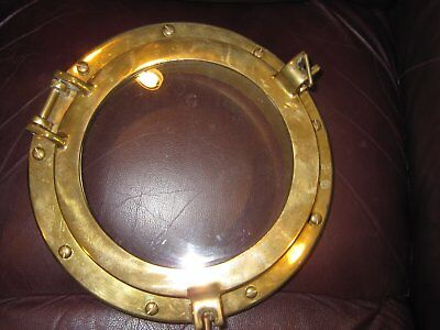 Vintage Brass Port Window (hinged to open)