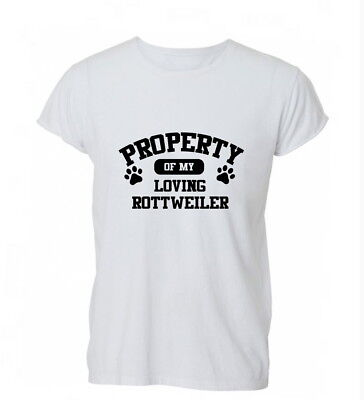 Property Rottweiler Dog Lover Funny Cute Gift Xmas Cotton Unisex T-Shirt T Shirt