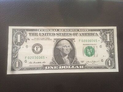 US 1$ Dollar Star Note Collectible