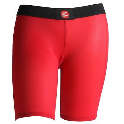 (Large, Red) - Cramer Women's Compression Shorts for Quads, Groyne and