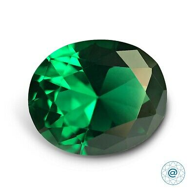 Emerald #112 Oval 12x10 mm. 4,7 ct. SIAMITE Nanocrystal Created Gemstone. US@