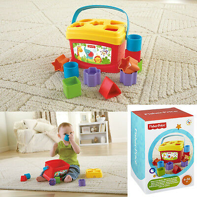 Fisher-Price Baby's First Blocks Sort Stack Learn to Identify Match Shapes Play