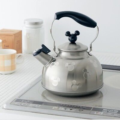 Disney Mickey Mouse IH stainless steel whistling kettle pot figure Kitchen JAPAN