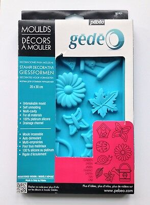 Pebeo Gedeo Silicone Mould 20 x 30cm Letters and Numbers