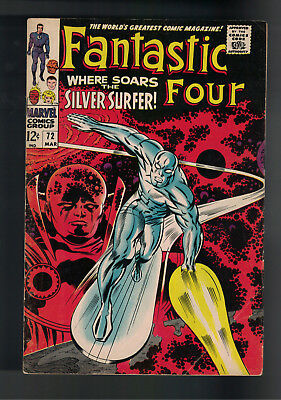 FANTASTIC FOUR #72 CLASSIC SILVER SURFER COVER JACK KIRBY ART Silver age book.