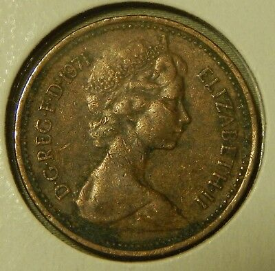 1971 Great Britain 1 Penny KM#915