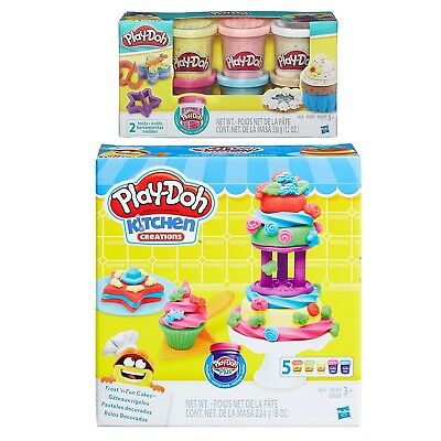 Play-Doh Kitchen Creations Frost n' Fun Cakes Play Set + Play-Doh Confetti