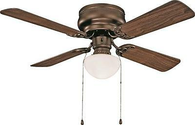 Boston Harbor CF-78125-ORB HUGGER LOW PROFILE CEILING FAN 4 Blade Bronze
