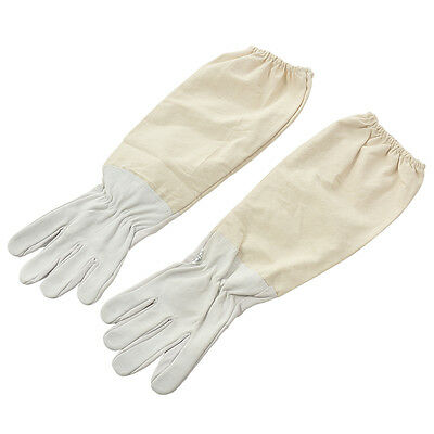 Beekeeper Beekeeping Bee Keeping Gloves Goatskin with Vented Long Sleeves 50cmLJ