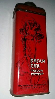 ZANOL Dream Girl talcum powder  tin by American Products Company Cincinnati OH